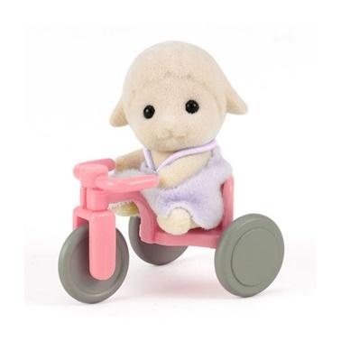 Sylvanian Sylvanian Families Koyun Bebek ve Bisiklet Renkli